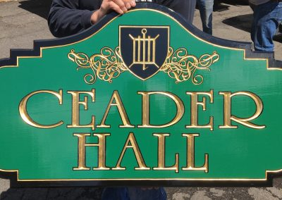 Ceader Hall - Hand Carved